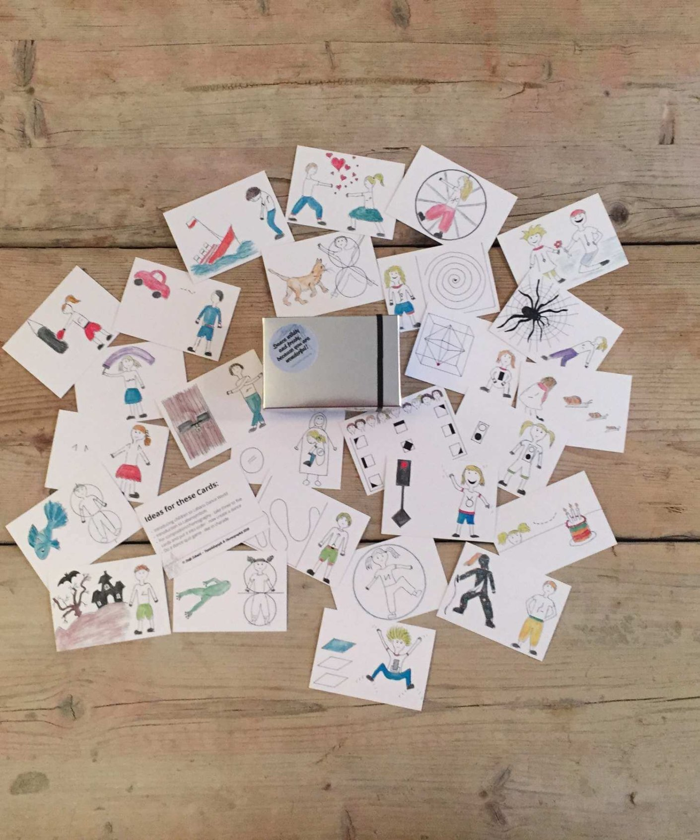 Dancecards, teaching material dance, creative dance, children, dance, kids, dance pack