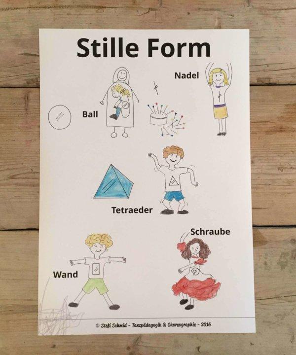 Stille form, still shapes, Laban, creative dance